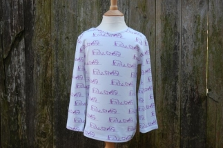 Farm Scene Long Sleeved Tee Purple -  image 1