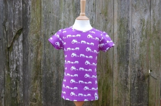 Farm Silhouette T-Shirt Purple -  image 1