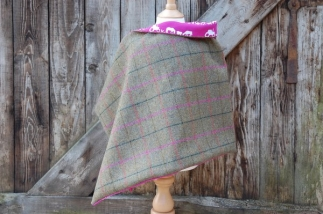 Tweed Wrap with Farm Print Lining -  image 1