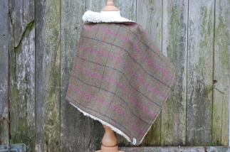 Tweed Wrap with Faux Sheepskin Lining -  image 1
