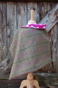 Tweed Wrap with Farm Print Lining -  image 2