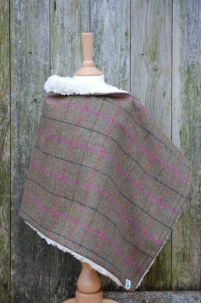 Tweed Wrap with Faux Sheepskin Lining -  image 3