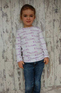 Farm Scene Long Sleeved Tee Purple -  image 3