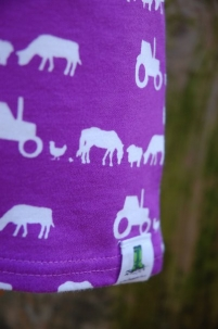 Farm Silhouette T-Shirt Purple -  image 5