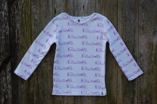 Farm Scene Long Sleeved Tee Purple -  image 5