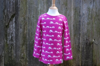 Farm Silhouette Long Sleeved Tee Pink -  image 1