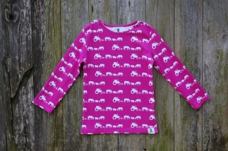 Farm Silhouette Long Sleeved Tee Pink -  image 2