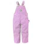 Girls Pink Striped Bib
