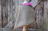 Tweed Wrap with Farm Print Lining
