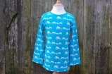Farm Silhouette Long Sleeved Tee Turquoise