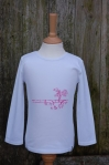 Embroidered Farm Scene Long Sleeved Tee Pink
