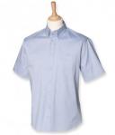 Henbury Mens Short Sleeve Oxford Shirt
