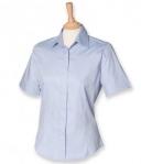 Henbury Ladies Short Sleeve Oxford Shirt