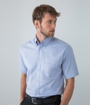 H555 Henbury Short Sleeve Pinpoint Oxford Shirt